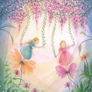 Bijdehansje – Fairies with flowers