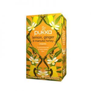 Pukka – Lemon, Ginger & Manuka Honey Tea Bio