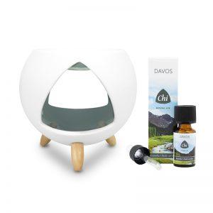 CHI Cozy aromabrander + tijdelijk met gratis Chi Davos air olie